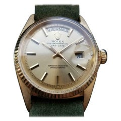"""Men's Rolex 18k Gold """"President"""" Ref.1803 Oyster Day-Date Automatic c.1965 LV886"""