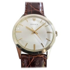 Men's Rolex 7002 14k Gold-Filled Automatic Dress Watch circa 1970s w/Paper MA196
