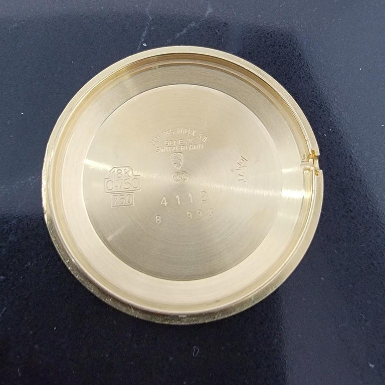 Mens Rolex Cellini Ref 4112 18k Gold Manual Wind 1970s Swiss Vintage RA161 For Sale 6