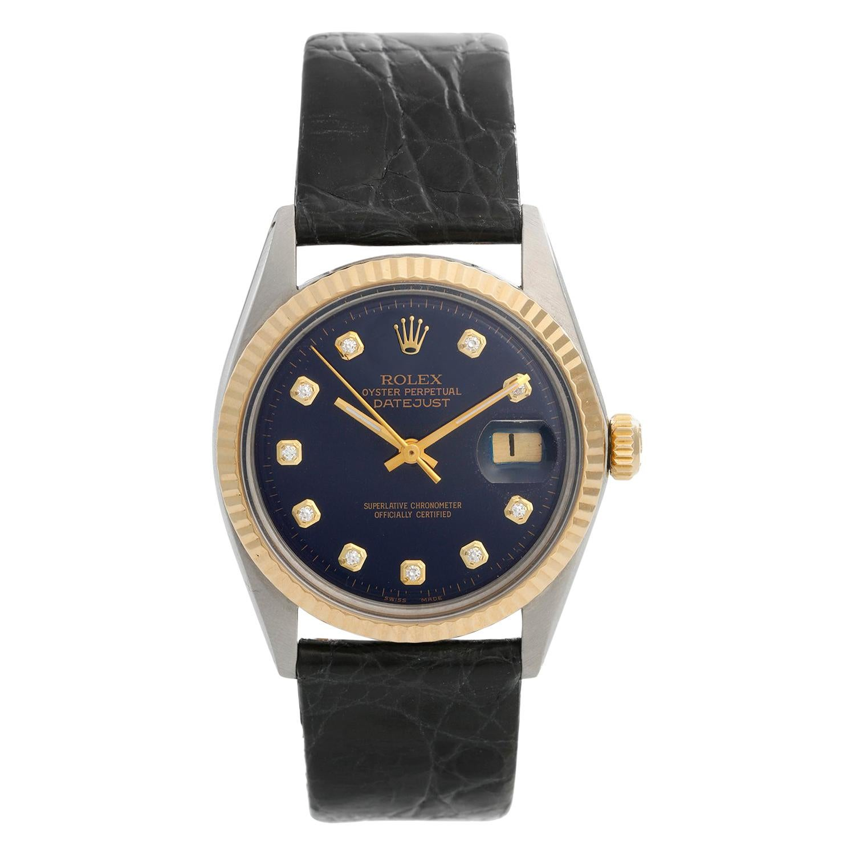 Men's Rolex Datejust 2-Tone Watch 1601