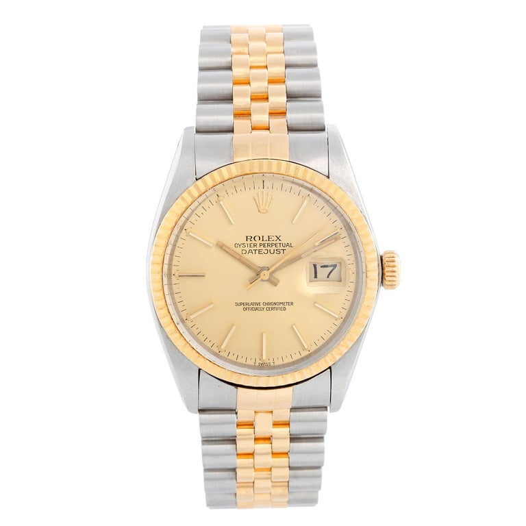 Men's Rolex Datejust 2-Tone Watch 16013 For Sale