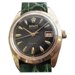 Men's Rolex OysteDate Precision 6494 Gold-Capped Hand-Wind, c.1950s MA199GRN