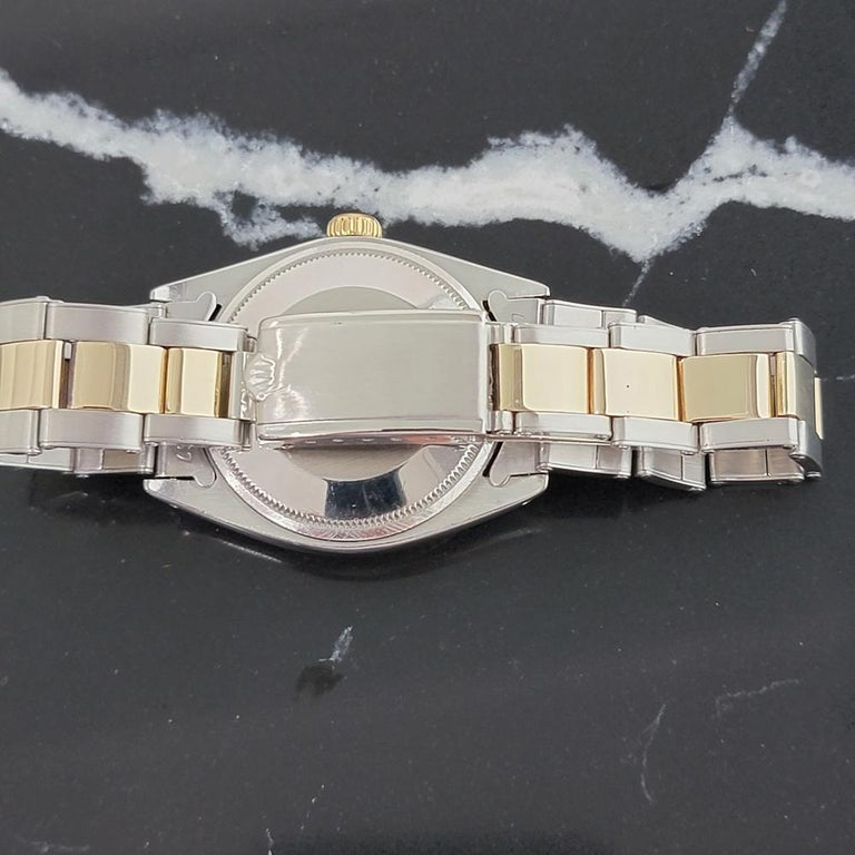 Mens Rolex Oyster Date 1500 14k Gold ss Automatic 1960s w Pouch RA166 For Sale 3