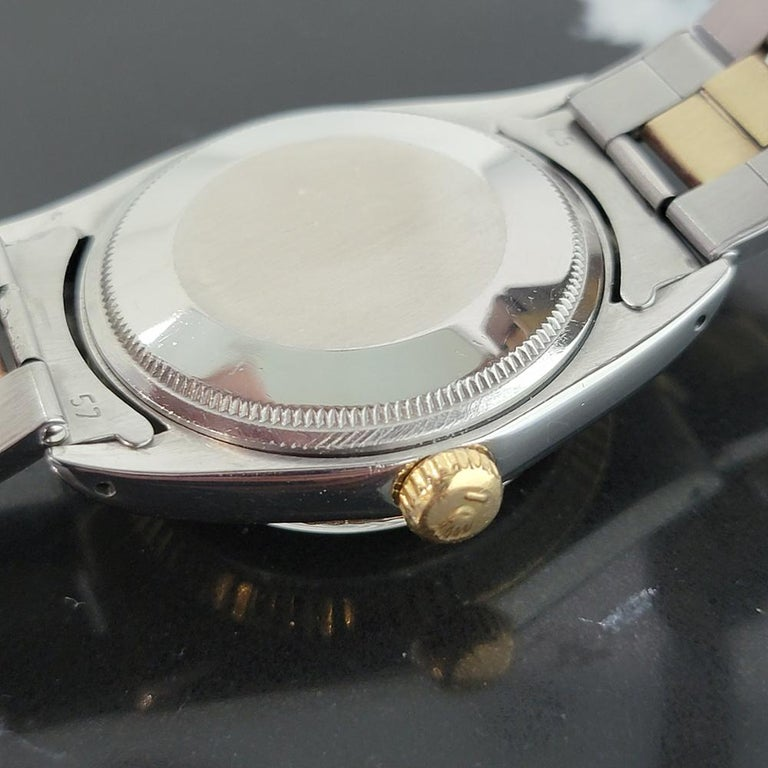 Mens Rolex Oyster Date 1500 14k Gold ss Automatic 1960s w Pouch RA166 For Sale 4
