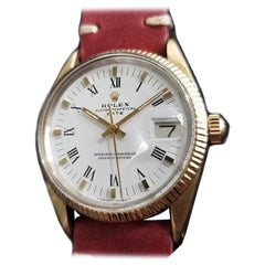 Men's Rolex Oyster Date 1550 Gold-Capped Automatic, circa 1970s Vintage RA137RED