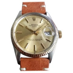 Men's Rolex Oyster Date Ref.1500 18k Gold & SS Automatic, c.1970s RA147TAN