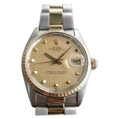 Mens Rolex Oyster Date Ref.1505 14k Gold & SS Automatic c.1970s Swiss RA105