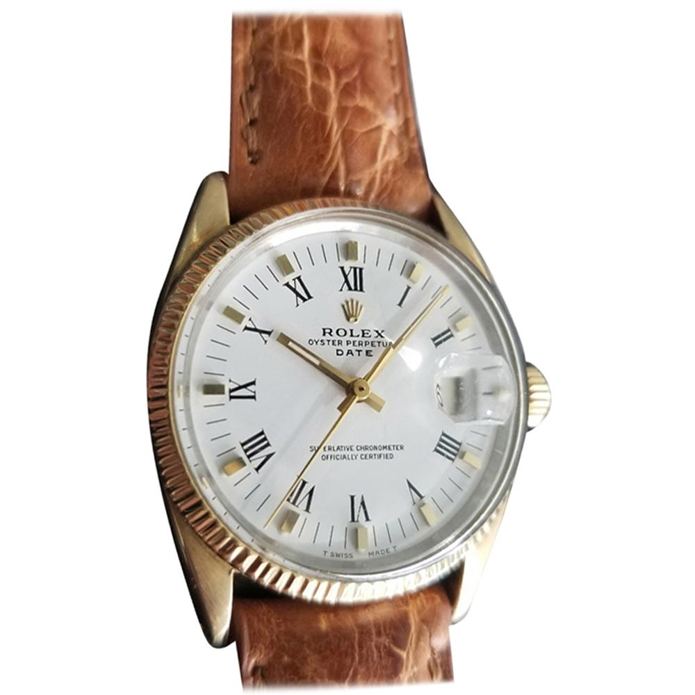 Men's Rolex Oyster Date Ref.1550 Gold-Capped Automatic, circa 1970s RA137TAN
