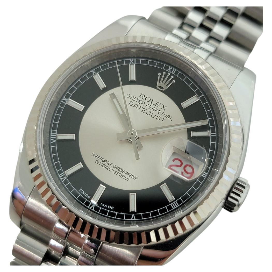 Mens Rolex Oyster Datejust 116234 18k SS Automatic w Pouch 2000s RJC126