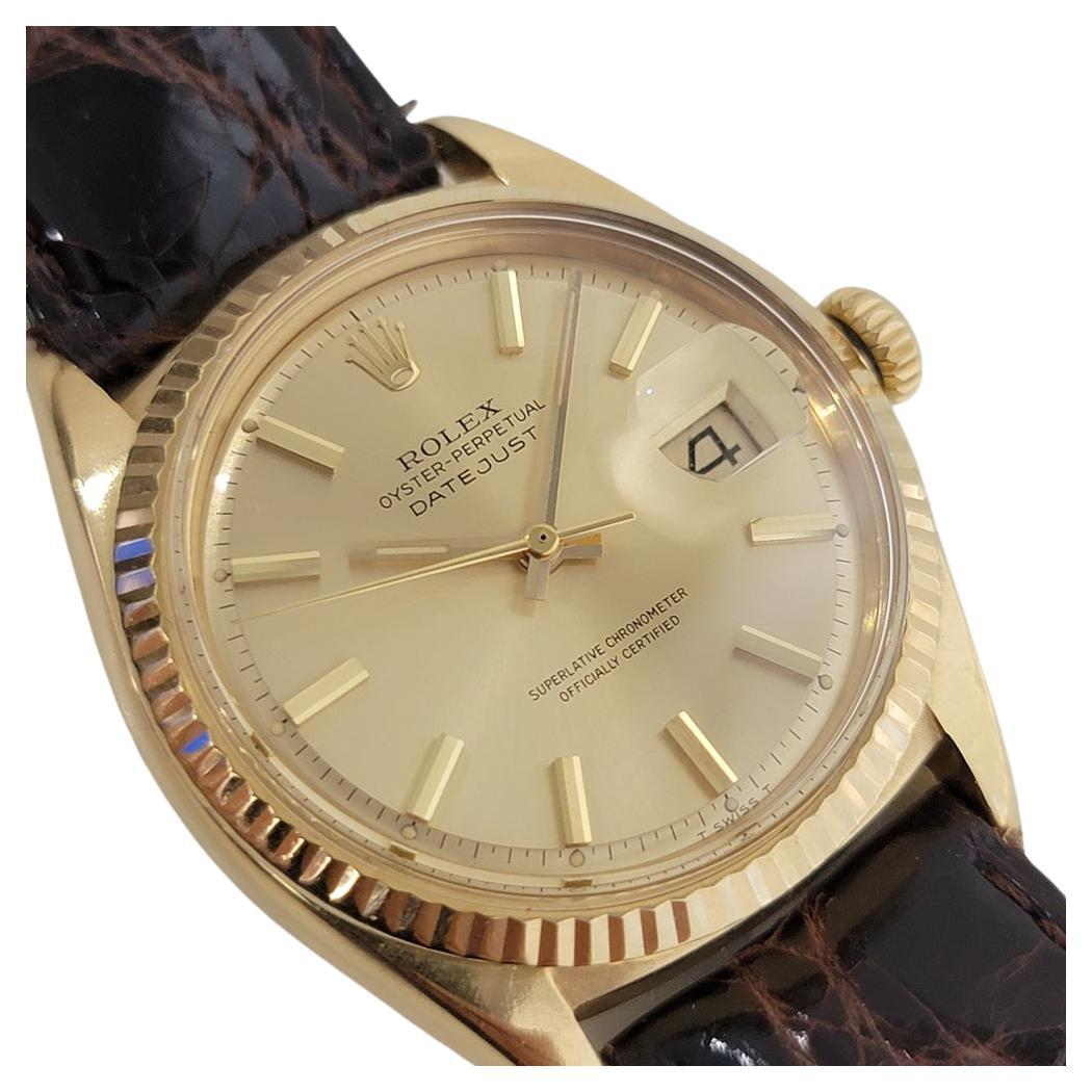 Mens Rolex Oyster Datejust 1601 18k Gold Automatic 1960s Vintage RJC128