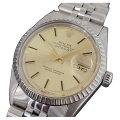 Mens Rolex Oyster Datejust 1603 Automatic 1970s Swiss Vintage RA226