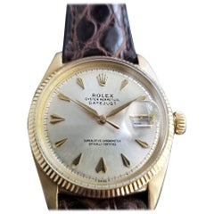 Men's Rolex Oyster Datejust 6605 14k Gold Automatic, circa 1950s Vintage LV694
