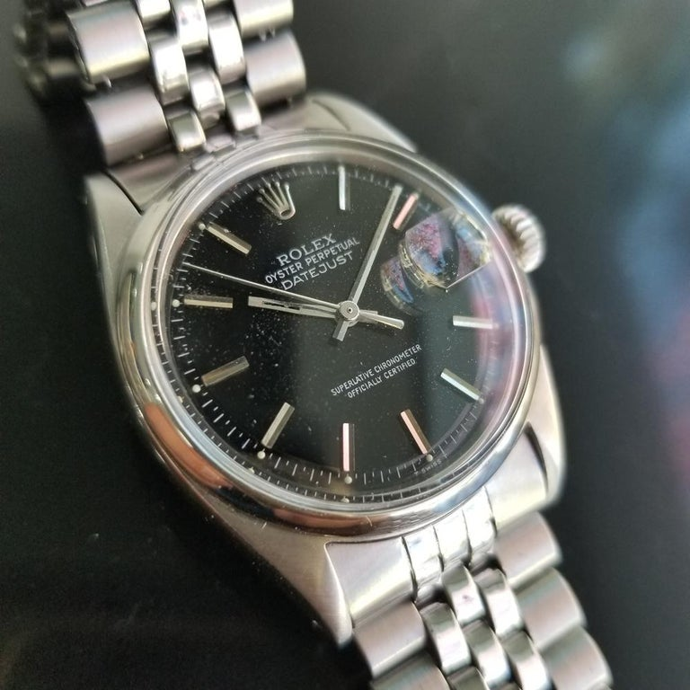 Men's Rolex Oyster Datejust Ref.1601 Automatic, c.1960s Swiss Vitnage RA131 In Excellent Condition In Beverly Hills, CA