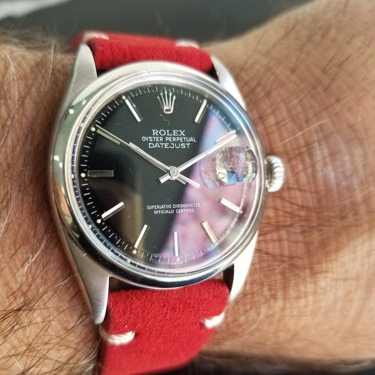 Mens Rolex Oyster Datejust Ref.1601 Automatic, c.1960s Vintage RA131RED 8
