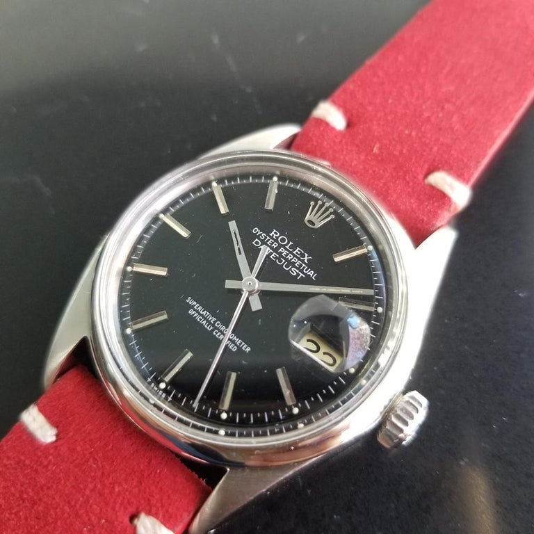 Men's Mens Rolex Oyster Datejust Ref.1601 Automatic, c.1960s Vintage RA131RED
