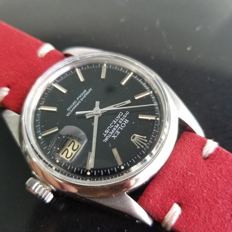 Mens Rolex Oyster Datejust Ref.1601 Automatic, c.1960s Vintage RA131RED 1