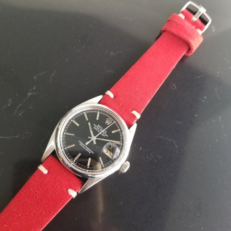 Mens Rolex Oyster Datejust Ref.1601 Automatic, c.1960s Vintage RA131RED 2