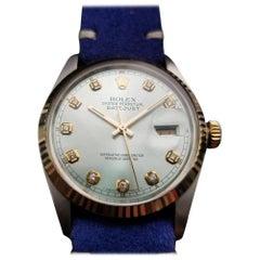 Mens Rolex Oyster Datejust Ref.16014 18k & SS Automatic, c.1970 NS32BLU