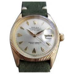 Men's Rolex Oyster Datejust Ref.6605 14k Gold Automatic, circa 1950s LV694GRN