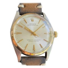 Mens Rolex Oyster Perpetual 1002 14k Gold & SS Automatic 1960s MA213NRN