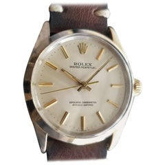 Men's Rolex Oyster perpetual 1024 Gold-Capped Automatic, circa 1980s RA145BRN