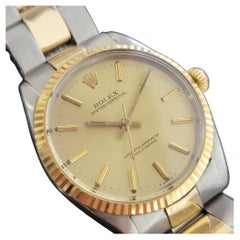 Mens Rolex Oyster Perpetual 5500 14k Gold SS Automatic 1960s Vintage RA179