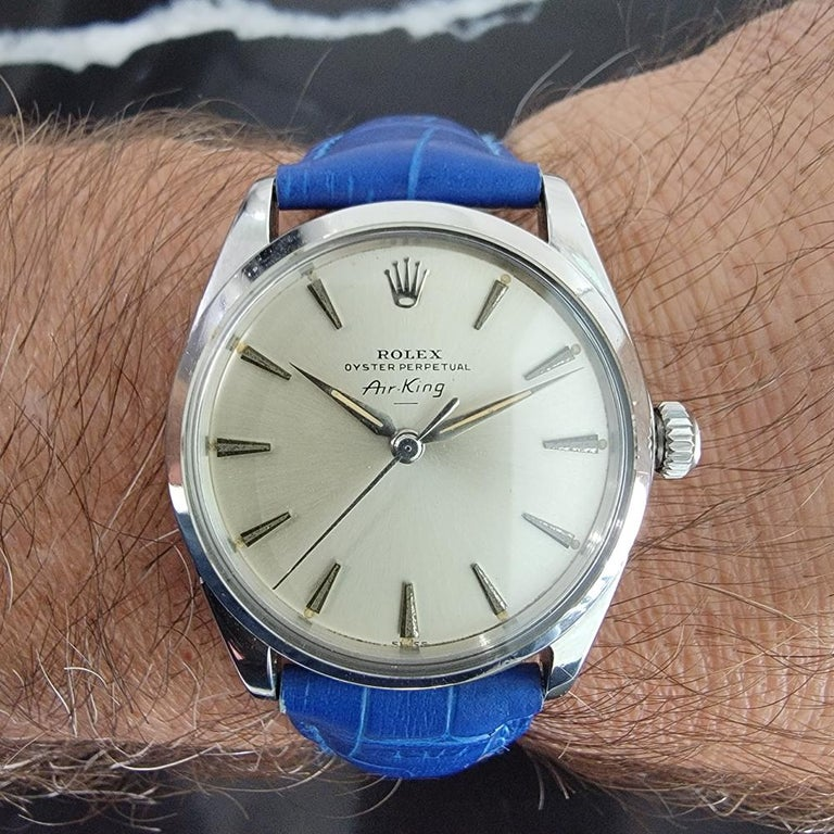 Mens Rolex Oyster Perpetual Air King 5500 Automatic 1960s Vintage RA208 For Sale 8