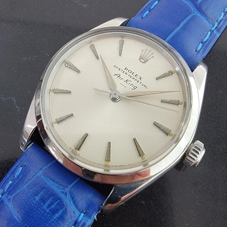 Men's Mens Rolex Oyster Perpetual Air King 5500 Automatic 1960s Vintage RA208 For Sale