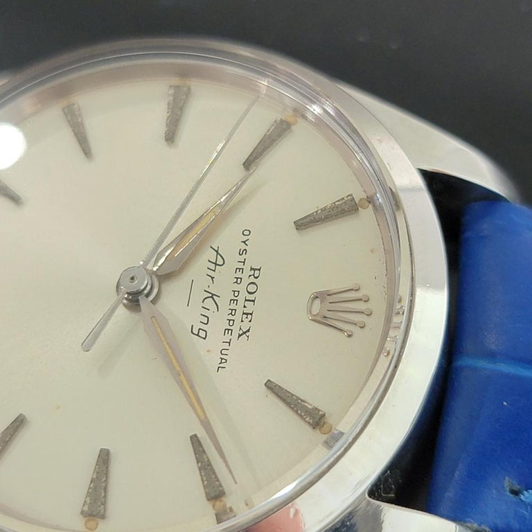 Mens Rolex Oyster Perpetual Air King 5500 Automatic 1960s Vintage RA208 For Sale 1