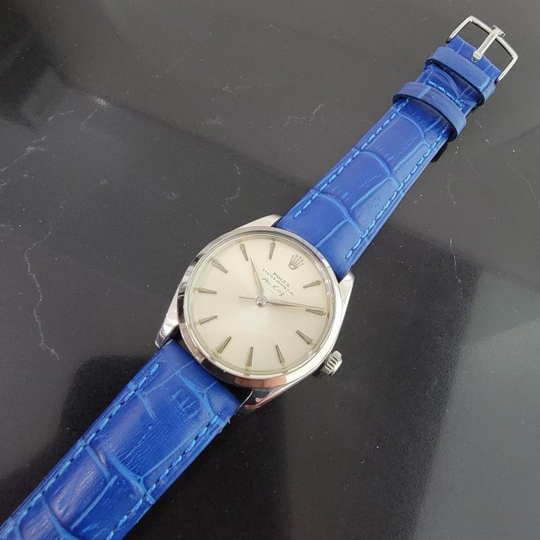 Mens Rolex Oyster Perpetual Air King 5500 Automatic 1960s Vintage RA208 For Sale 2