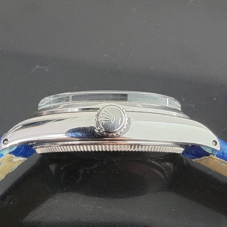 Mens Rolex Oyster Perpetual Air King 5500 Automatic 1960s Vintage RA208 For Sale 4