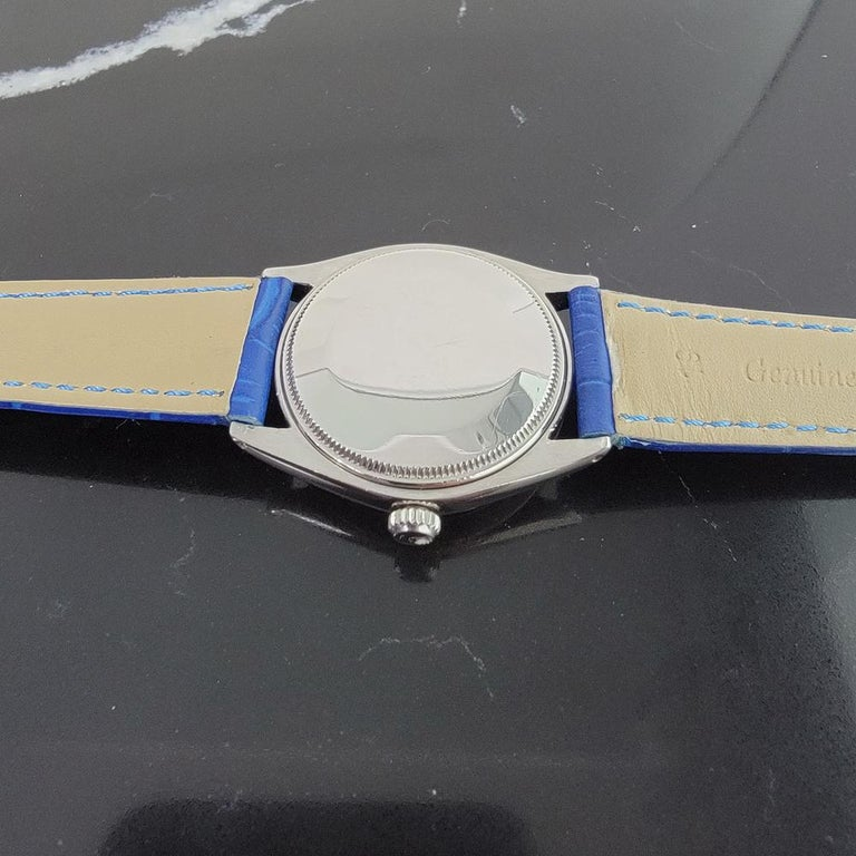 Mens Rolex Oyster Perpetual Air King 5500 Automatic 1960s Vintage RA208 For Sale 5