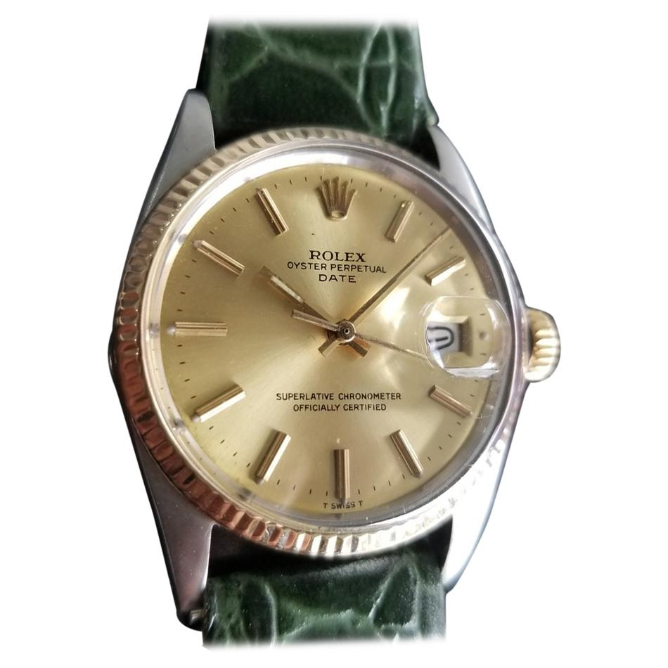 Men's Rolex Oyster Perpetual Date 1500 18k & ss Automatic, c.1970s RA147