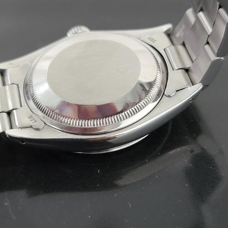Mens Rolex Oyster Perpetual Date 1500 1970s Orange Dial Automatic RA175 For Sale 5