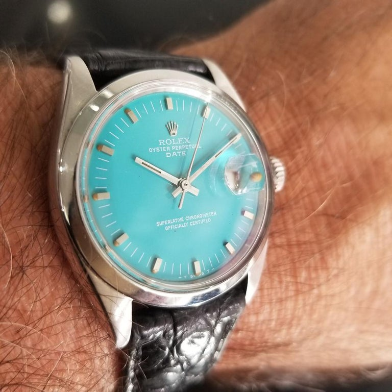 Men's Rolex Oyster Perpetual Date 1500 Automatic, c.1960s Vintage RA112BLK 9