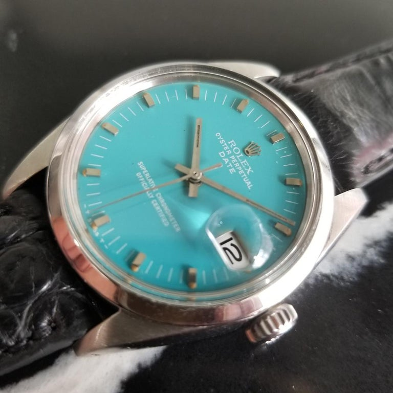 Men's Rolex Oyster Perpetual Date 1500 Automatic, c.1960s Vintage RA112BLK 1