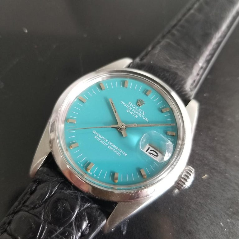 Men's Rolex Oyster Perpetual Date 1500 Automatic, c.1960s Vintage RA112BLK 2