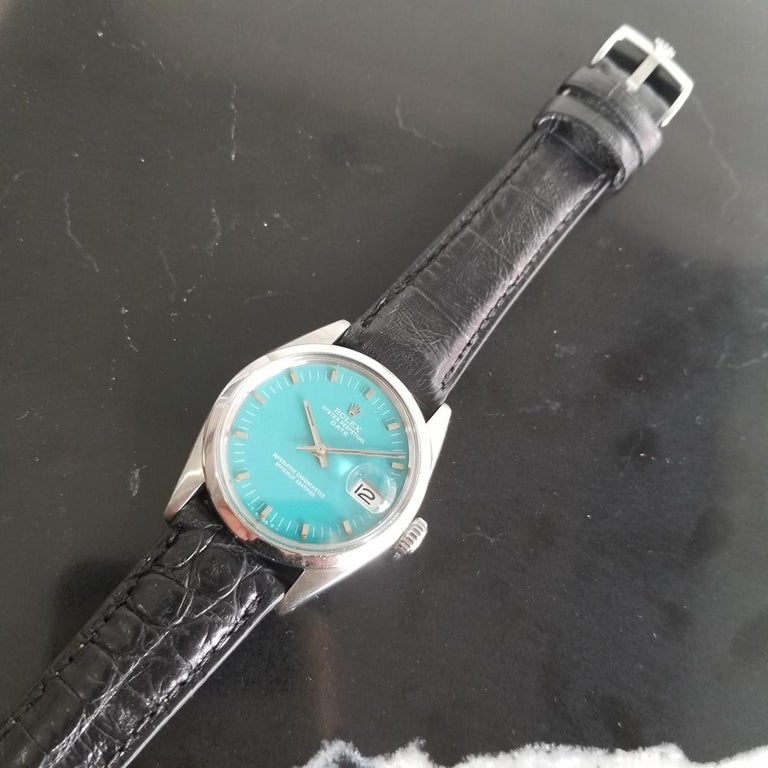 Men's Rolex Oyster Perpetual Date 1500 Automatic, c.1960s Vintage RA112BLK 3