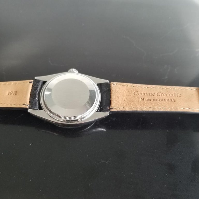 Men's Rolex Oyster Perpetual Date 1500 Automatic, c.1960s Vintage RA112BLK 6