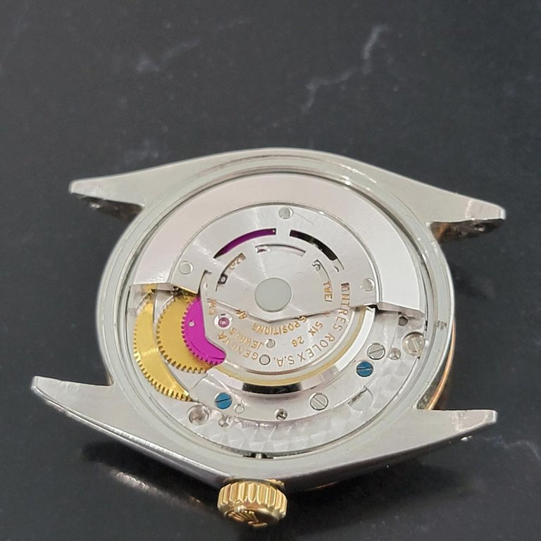 Mens Rolex Oyster Perpetual Date 1500 Gold ss Automatic 1970s Swiss RA164 For Sale 7