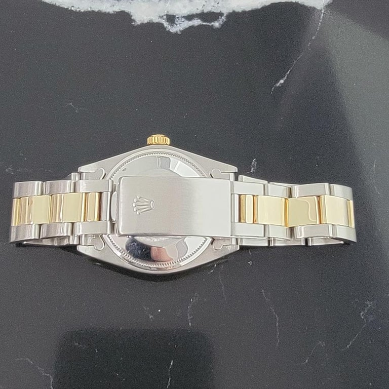 Mens Rolex Oyster Perpetual Date 1500 Gold ss Automatic 1970s Swiss RA164 For Sale 4