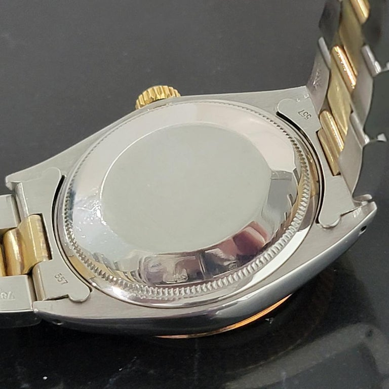 Mens Rolex Oyster Perpetual Date 1500 Gold ss Automatic 1970s Swiss RA164 For Sale 5