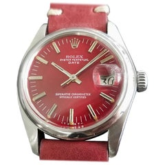 Mens Rolex Oyster Perpetual Date 1500 Automatic, c.1970s Vintage RA113RED
