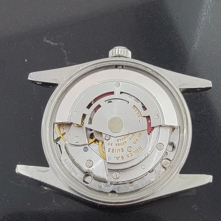 Mens Rolex Oyster Perpetual Date 15000 Automatic Blue Dial 1980s RA167 For Sale 6