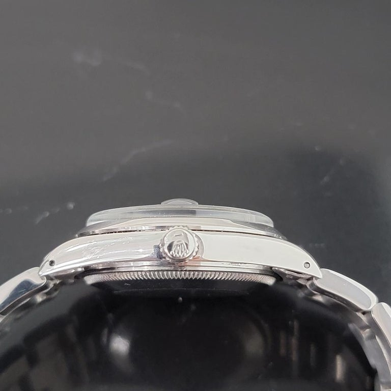 Mens Rolex Oyster Perpetual Date 15000 Automatic Blue Dial 1980s RA167 For Sale 2