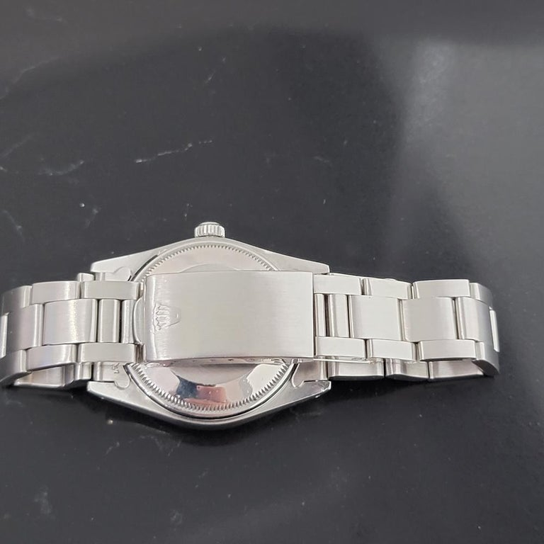 Mens Rolex Oyster Perpetual Date 15000 Automatic Blue Dial 1980s RA167 For Sale 3