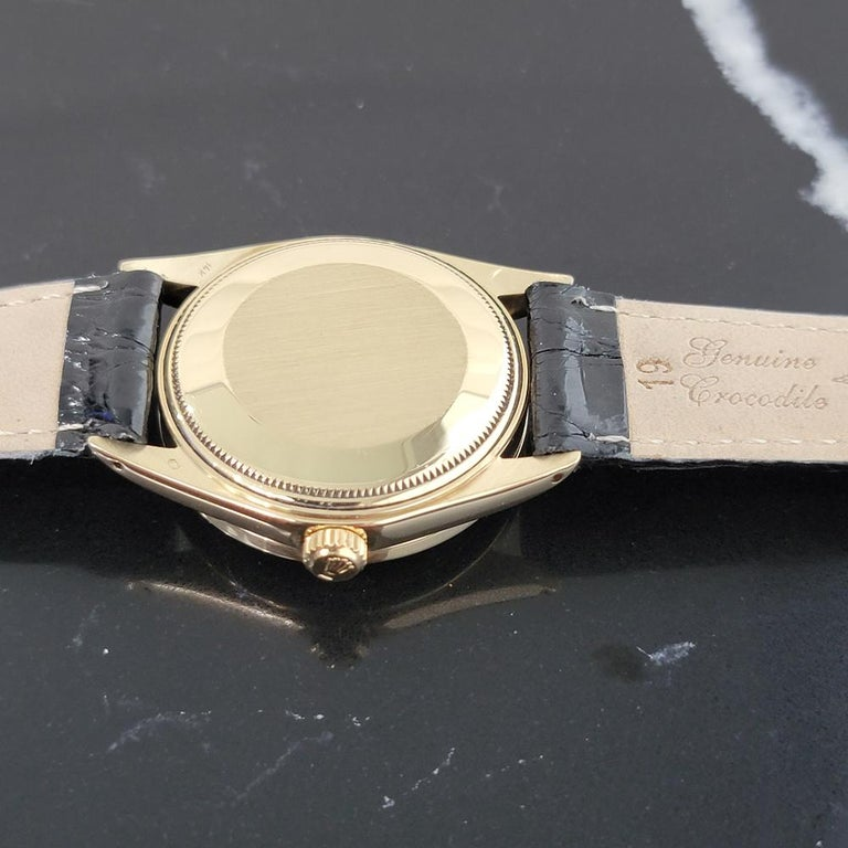 Mens Rolex Oyster Perpetual Date 1501 14k Solid Gold Automatic 1970s RA220 For Sale 6