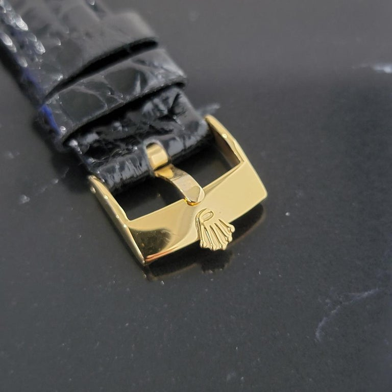 Mens Rolex Oyster Perpetual Date 1501 14k Solid Gold Automatic 1970s RA220 For Sale 4