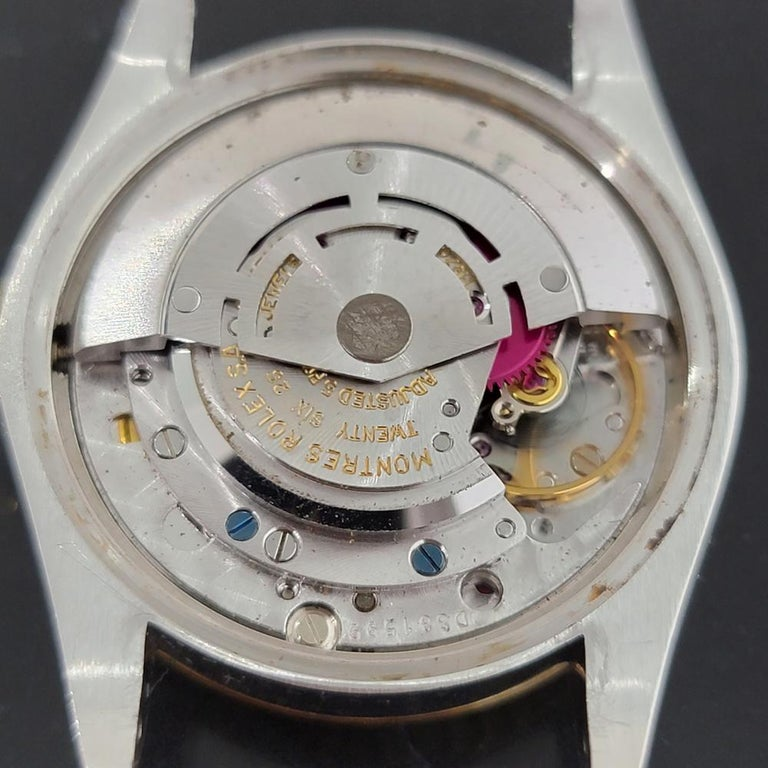 Mens Rolex Oyster Perpetual Date 1505 14k Gold ss Automatic 1970s RA165 For Sale 6
