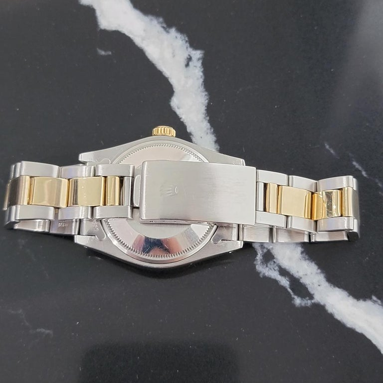 Mens Rolex Oyster Perpetual Date 1505 14k Gold ss Automatic 1970s RA165 For Sale 4